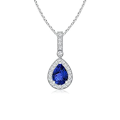 Angara Prong-Set Tanzanite Solitaire Knot Pendant for Women YuE5AlyD