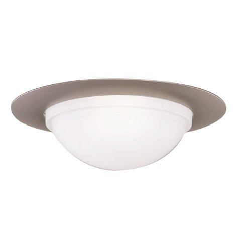 All-Pro 172SNS 6-Inch Trim Showerlight with Dome Lens and Reflector, Satin Nickel Trim with Frosted Glass Dome -