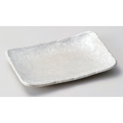 Grilled Fish Plate utw164-3-724 [6.3 x 4.5 x 0.9 inch] Japanece ceramic White crystal 5.5 length angle dish tableware