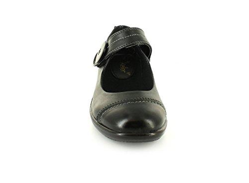 Dr Keller - Chaussures Femmes Noir Natasha Fermeture Boucle - Noir, Synthétique, 37