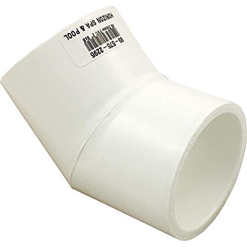 Spears 417 Series PVC Pipe Fitting, 45 Degree Elbow, Schedule 40, 2