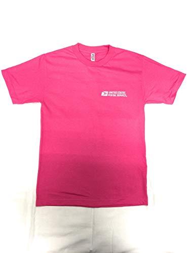 USPS New Postal Pink T-Shirt Postal Logo ON Front & Back Size Medium