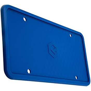 Rightcar Solutions Flawless Silicone License Plate Frame - Rust-Proof. Rattle-Proof. Weather-Proof. - Blue