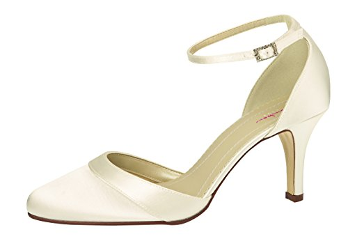 Shoes cheville Coloured femme Elsa Bride Ivory 8p5Ocq