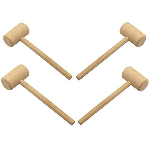 LONG TAO 7-3/4-INCH Unfinished OAK Wood Mallets Wood Hammer (PACK OF 4)