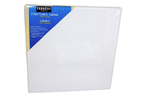 Sargent Art 90-2006 24x24-Inch Stretched Canvas, 100% Cotton Double Primed by Sargent Art