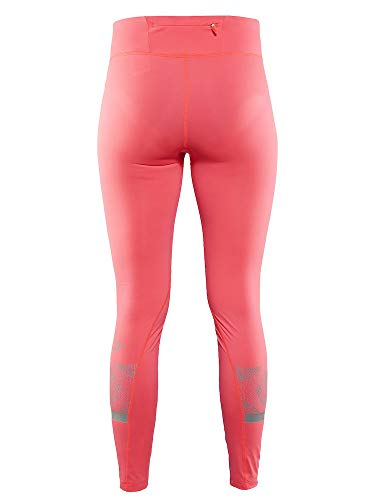 Craft Sportswear Women's Brilliant 2.0 High Visibility Reflective Running and Training Fitness Workout Light Tights, Shock, Large by Craft Sportswear (Image #4)