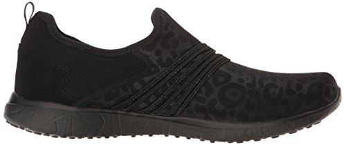 Microburst Under Wraps Leopard Skechers Femmes Print Slip-On Chaussures - Noir
