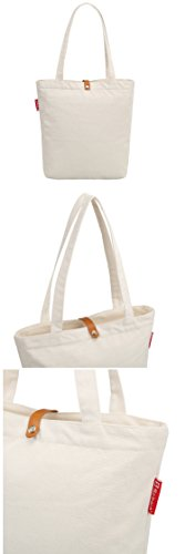 So'each Bolsa de tela y de playa, color natural (Beige) - SPA-UK-ODJ-20