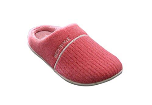 Kus Goud (tm) Unisex Zachte Fleece Gevoerde Wasbare Slip Op Huis Slippers Watermeloen Rood