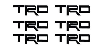6 x TRD wheel decals stickers die cut vinyl motordecals