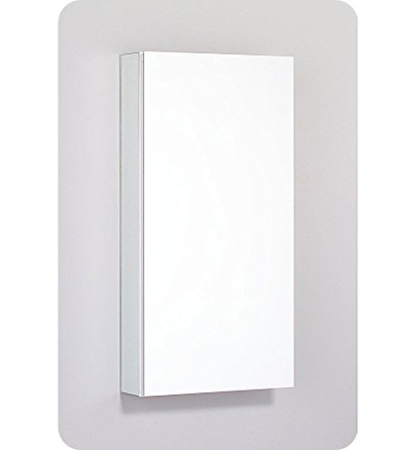 Mirror Cabinet Medicine Frameless Flat (Robern PLM1630W PL Series Flat Plain Mirrored Door, 15-1/4-Inch W by 30-Inch H by 3-3/4-Inch D, White Interior)