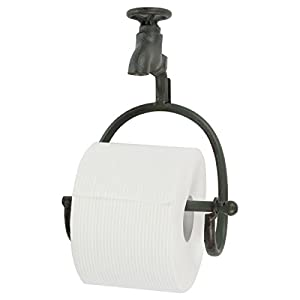 Lily's Home Vintage Rustic Wall Mount Toilet Paper Roll Holder, Country Design Crafted to Look Like Spigot Faucet and is…