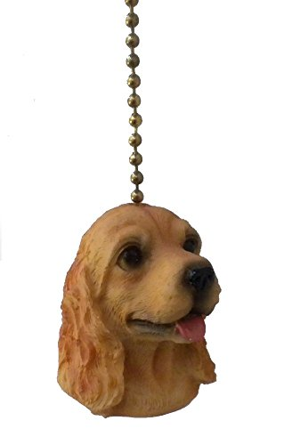 COCKER SPANIEL puppy dog ceiling FAN PULL chain extension extra length light cord extender