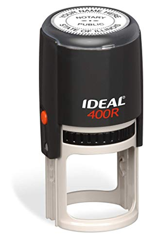 Round Notary Stamp for State of Illinois | Self Inking Unit - Trodat Manufactured Ideal 400r with Advanced Durability