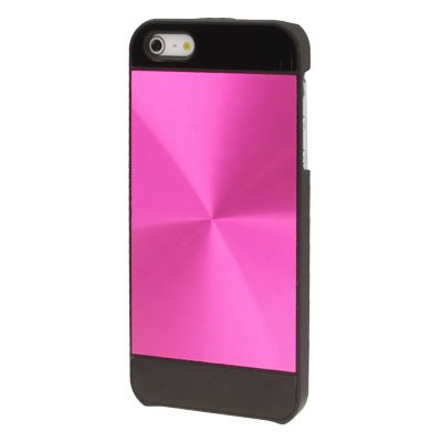 "iPhone 5 / 5S Premium Hülle / Case / Cover mit Aluminium Look in pink im ""Core-Texture-Style"" -Original nur von THESMARTGUARD-"