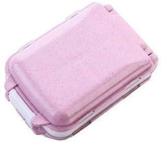 旅行ピルオーガナイザーボックス処方薬リマインダーピルボックス、ピルケースデイリーDABEAB(色:ブルー) 救急箱 (Color : Pink, Size : -)