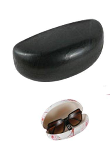 Stylish Sun Glass Case - Large Hard Eyeglass Case (Black) - Fashion Glasses Case