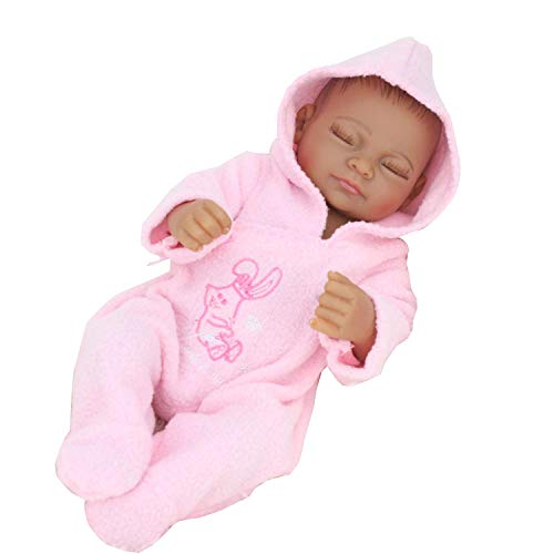 11 inch Mini Black Cute Alive Newborn Sleeping Baby Dolls Si