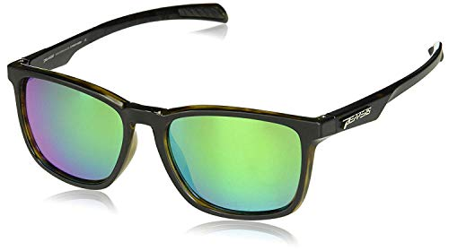 (Pepper's Hat Trick Polarized Oval Sunglasses, Matte Black over Green Tortoise, 58 mm)