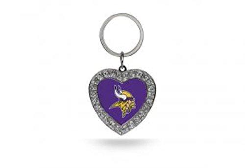 Rico NFL Minnesota Vikings Rhinestone Heart Keychain