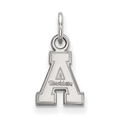 Appalachian State Mountaineers School Letter Logo Pendant in Sterling Silver 9x9mm