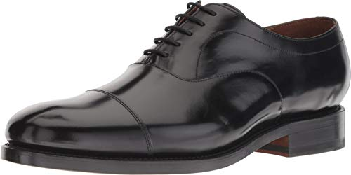 Bostonian Men's Rhodes Cap Black Leather 9.5 M US M (D)
