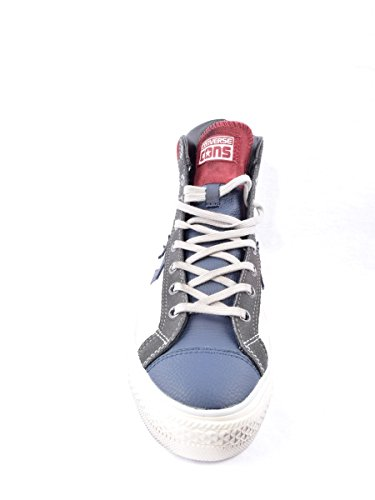 Converse Star Player Hi Leather - Zapatillas abotinadas Unisex adulto Bianco-blu
