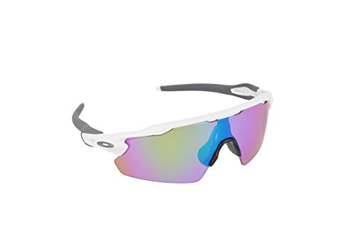 Oakley Men's Golf Radar EV Pitch Shield Sunglasses, Polished White Frame/Prizm Golf Lenses,138 - Ev Oakley Prizm Radar