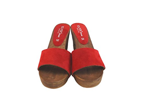 Silfer One Red Women's Shoes Size Clogs xwBZUz