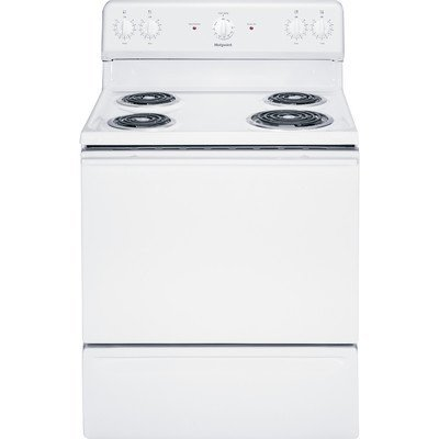 Hotpoint RB525DHBB 30-Inch  5 Cu.Ft. Free-Standing Electric Range, Black (Clean Standard Electric Freestanding Ranges)