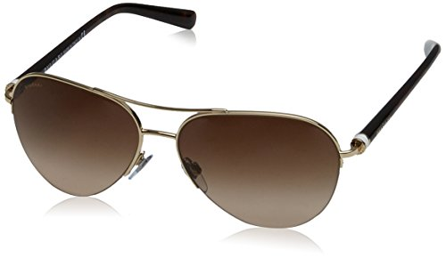 Bvlgari BV6084 278/13 Pale Gold BV6084 Aviator Sunglasses Lens Category 3 - Gold Bvlgari