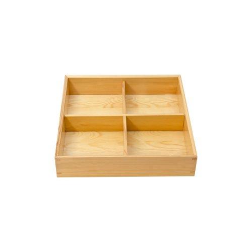 WOODEN KIWAMI 4 DIVIDED BENTO BOX by TableTop King