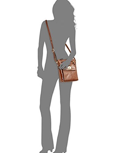Bernini Black Womens Handbag Crossbody Glazed Giani Leather z5dYwqpR
