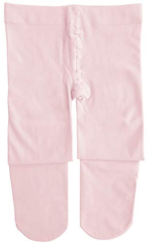 Dancina Ballet Tights Girls Ballerina Costume Pretty Soft Dance Leggings M (6-8) Pink ()