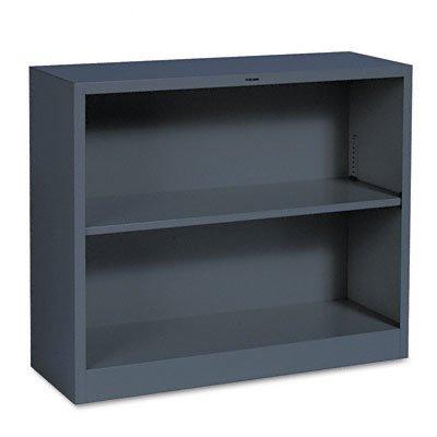 Hon Company 2 Shelf Metal Bookcase  34 1 2 Wx12 5 8 Dx29 H  Charcoal