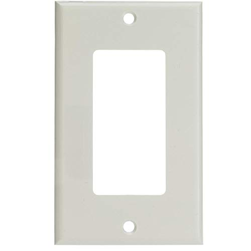 (GOWOS (10-Pack) Decora Wall Plate, White, 1 Hole, Single Gang)