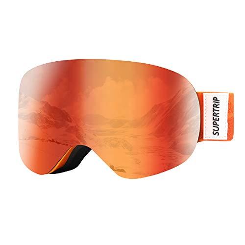oggles for Boys & Girls Over The Glasses Anti Fog Snow Snowboard Goggles UV Protection for 7-13 Year Old Children (Gray Revo Orange (VLT 31%)) ()