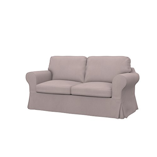 Taupe Eco Leather Loveseat - Soferia - Replacement cover for IKEA EKTORP 2-seat sofa, Eco Leather Taupe