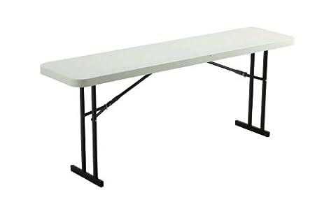 Lifetime 80176 Folding Conference Table, 6 Feet, White Granite