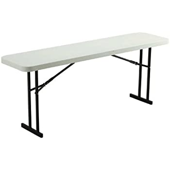 Lifetime 80176 Folding Conference Table, 6 Feet, White Granite