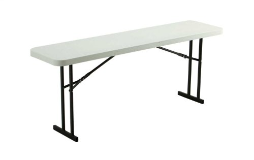 Lifetime 80176 Folding Conference Training Table, 6 Feet, White Granite by Lifetime