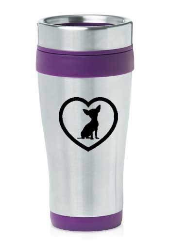 d Stainless Steel Travel Mug Z70 Chihuahua Heart (Chihuahua Travel Mug)