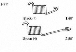 Carlson Quality Brake Parts H711 Drum Brake Spring Set