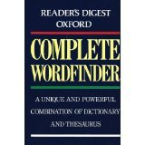Reader's Digest Oxford Complete Wordfinder, Reader's Digest Editors, 0895778947