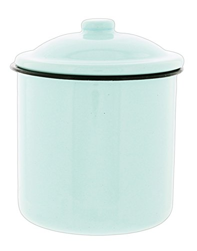 Park Hill 5'' Light Blue Enamel Canister with Lid by Park Hill