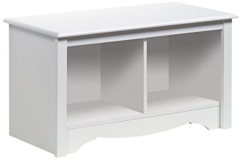 Prepac Monterey White Twin Cubbie Bench (Small)