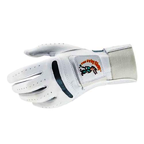 Swing Glove Left Best Golf Training Aid/Play for Right Handed Golfer S ~ XXXL [Original Patent] (M)