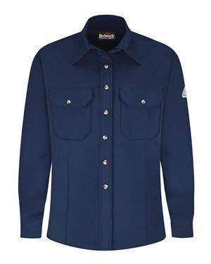 (Bulwark Women's Dress Uniform Shirt - EXCEL FR ComforTouch S Navy)