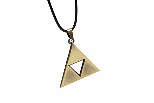 Pearl Legend of Zelda Triforce Symbol Bronze Necklace